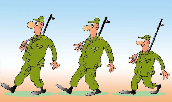 Карикатура: Ранжир оружием украшен, Николай Кинчаров