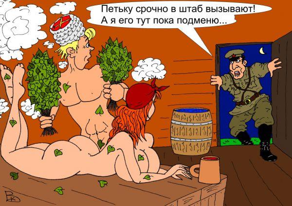Карикатура: Комиссар, Валерий Каненков