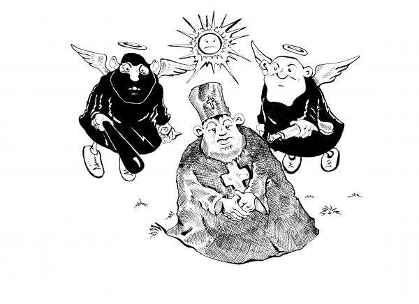 Карикатура: Лицензированная охрана, Константин Мухоморов