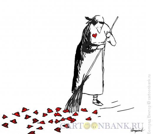 Карикатура: Конец праздника, Богорад Виктор