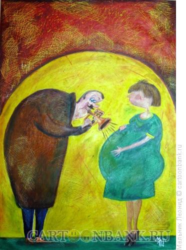 Карикатура: Сын будет музыкантом!, Мельник Леонид