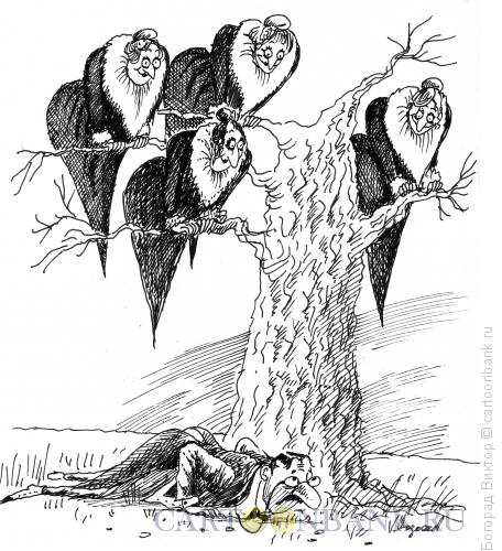 Карикатура: Богатый дядя и его родственники, Богорад Виктор