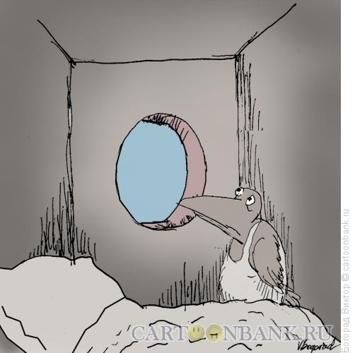 Карикатура: Обитатель скворечника, Богорад Виктор