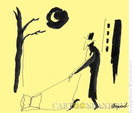 Карикатура: Вечерняя прогулка, Богорад Виктор