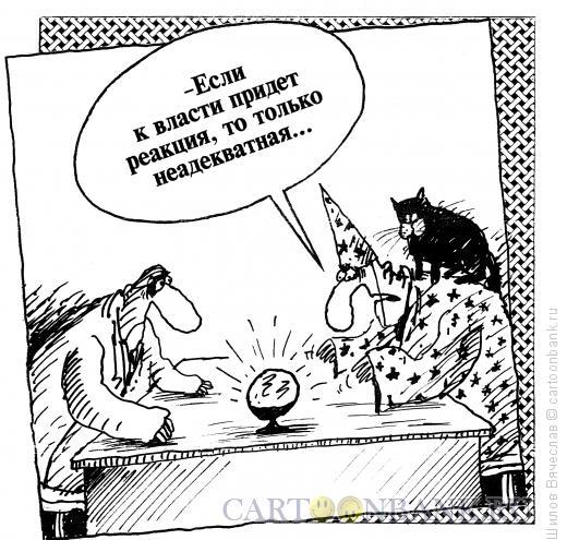 Карикатура: Неадекватная реакция, Шилов Вячеслав
