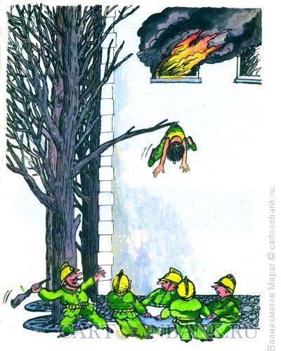 Карикатура: Пожар, Валиахметов Марат