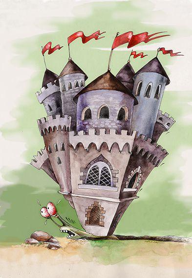 Карикатура: улиточка, Алла Сердюкова