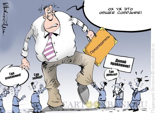 Карикатура: Задергали председателя, Подвицкий Виталий