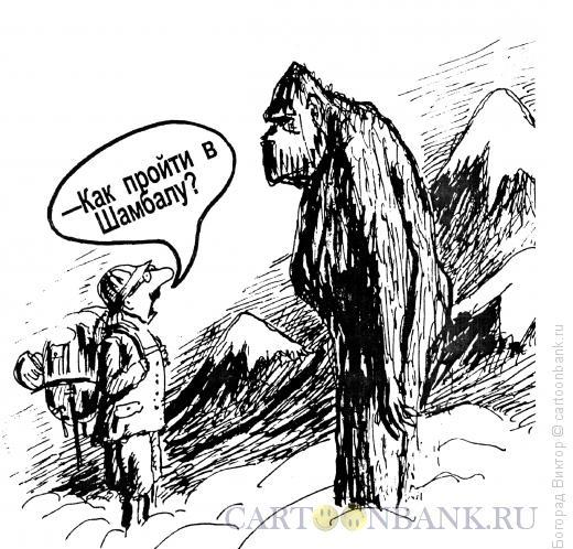 Карикатура: Дорога в Шамбалу, Богорад Виктор