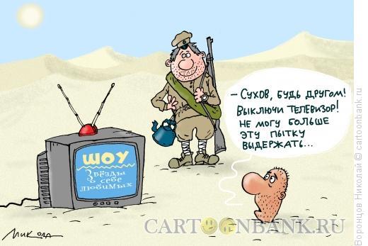 Карикатура: ТВ со звёздами, Воронцов Николай