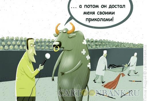 Карикатура: Коррида, Попов Андрей