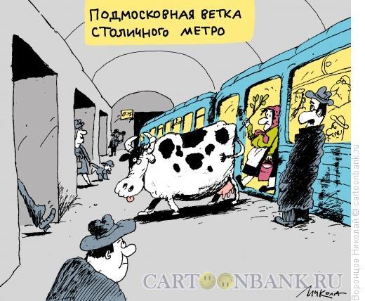 Карикатура: Подмосковная ветка метро, Воронцов Николай
