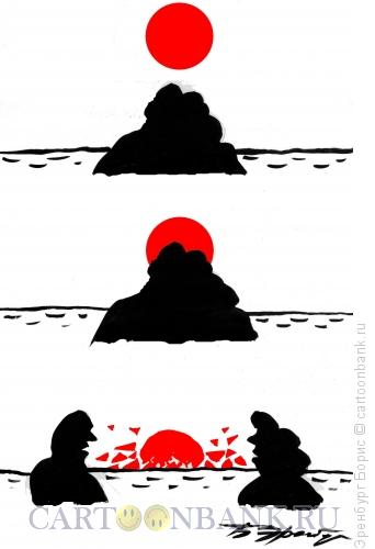 Карикатура: Закат, Эренбург Борис