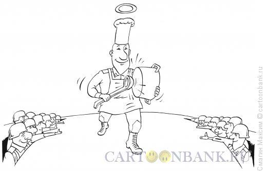 Карикатура: Вести полевой кухни, Смагин Максим