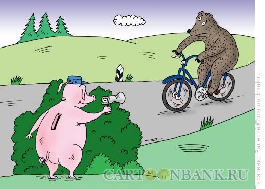 Карикатура: Эх, дороги!, Тарасенко Валерий