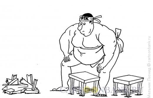 Карикатура: Контролер, Мельник Леонид