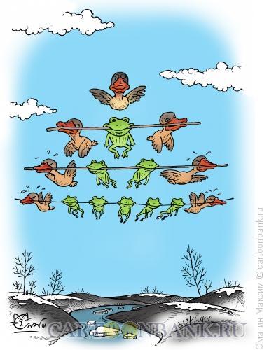 Карикатура: Массовый перелет, Смагин Максим