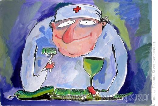 Карикатура: Медобед, Мельник Леонид