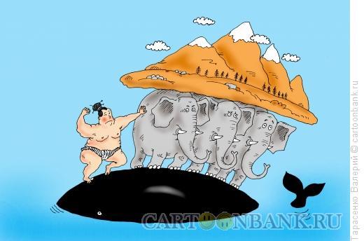 Карикатура: Самый сильный, Тарасенко Валерий