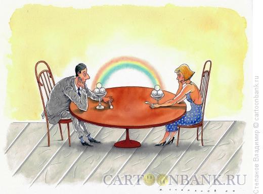 Карикатура: Рандеву, Степанов Владимир