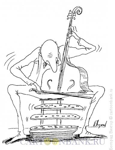 Карикатура: Виолончель, Богорад Виктор