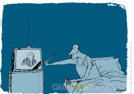 Карикатура: Ночная мечта, Богорад Виктор