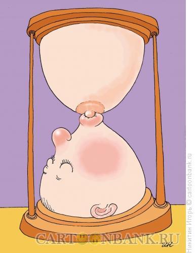 Карикатура: часы, Никитин Игорь