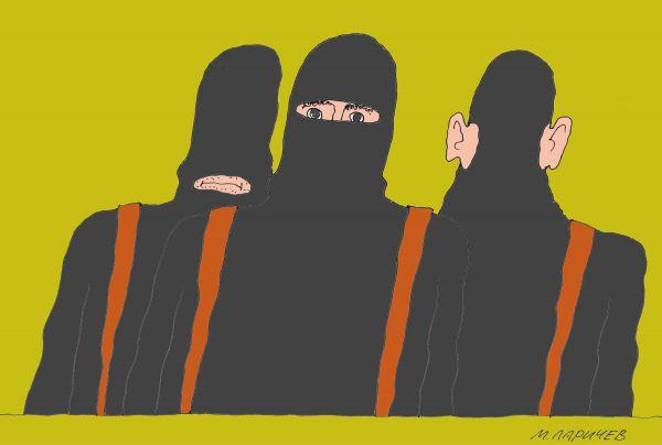 Карикатура: Запрещенная организация, Михаил Ларичев