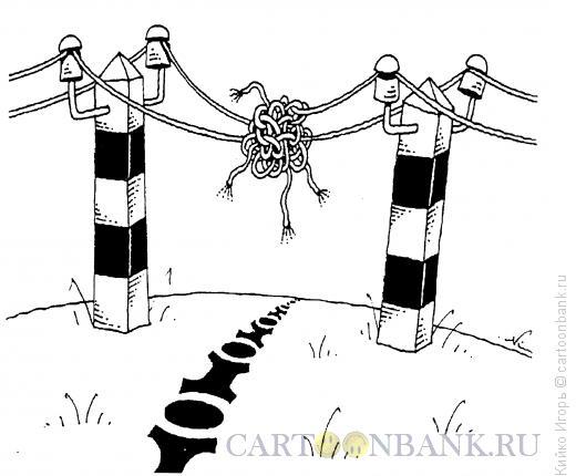 Карикатура: Проблемы на границе, Кийко Игорь