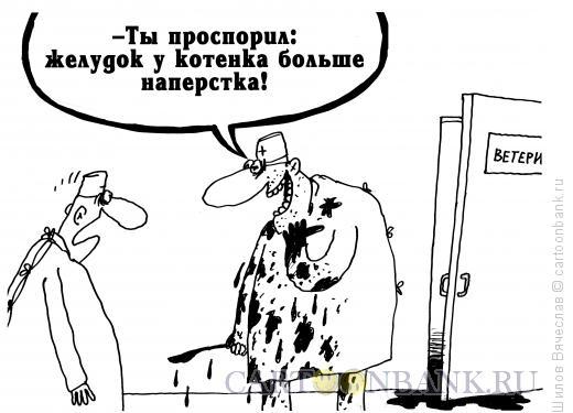 Карикатура: Котенок, Шилов Вячеслав