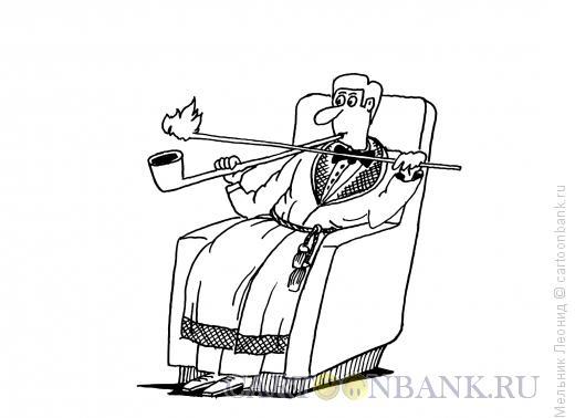 Карикатура: Курильщик, Мельник Леонид