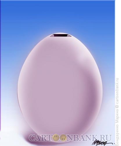 Карикатура: Яйцо - Копилка, Бондаренко Марина