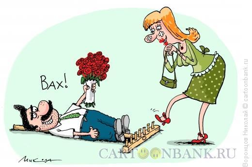 Карикатура: На те же грабли, Воронцов Николай