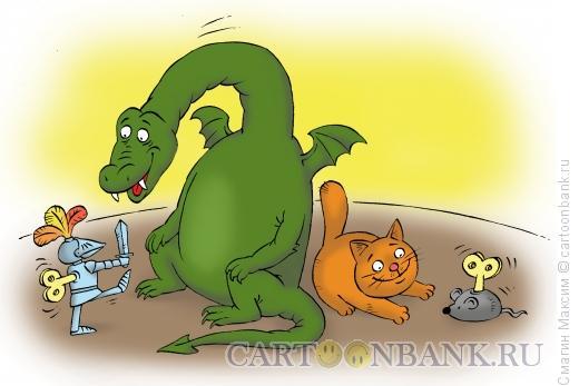 Карикатура: Заводные игрушки, Смагин Максим