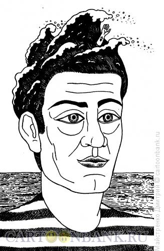 Карикатура: Моряк (прическа-волна), Майстренко Дмитрий