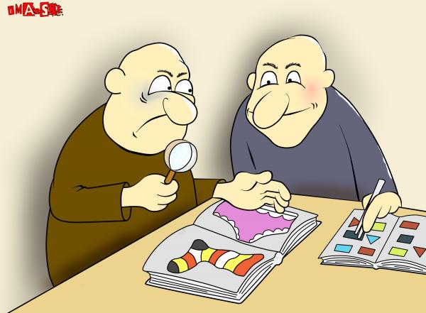 Карикатура: коллекционеры, Игорь Иманский