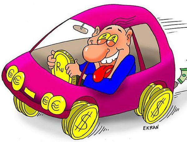 Карикатура: Деньги рулят, Евгений Кран
