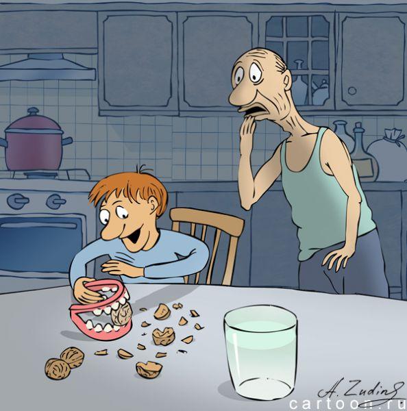 Карикатура: Щелкунчик, Александр Зудин
