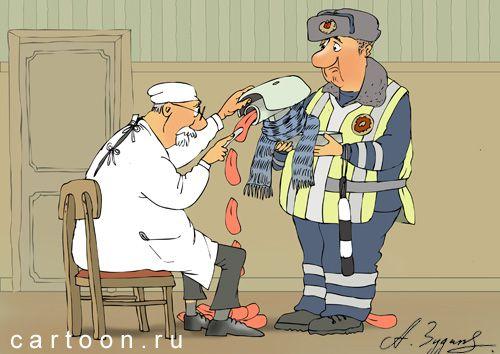 Карикатура: камера-стрелка, Александр Зудин
