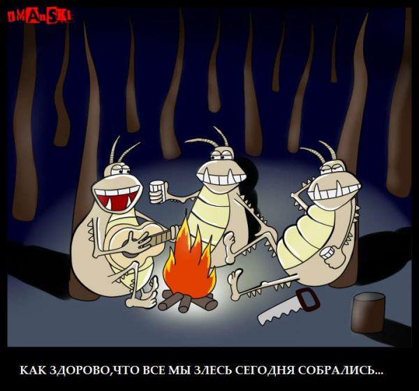 Карикатура: Блошки, Игорь Иманский