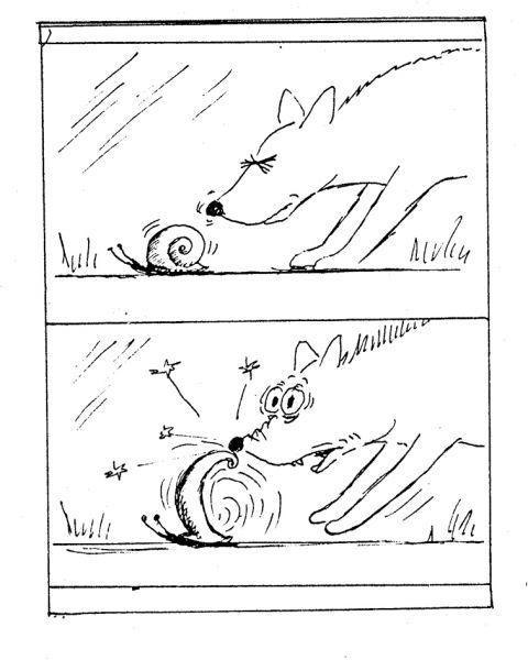 Карикатура: Пёс, Виктор БОГОРАД