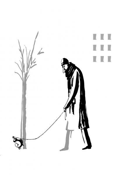 Карикатура: Прогулка, Виктор БОГОРАД