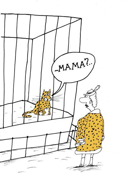 Карикатура: Кот, Вячеслав ШИЛОВ
