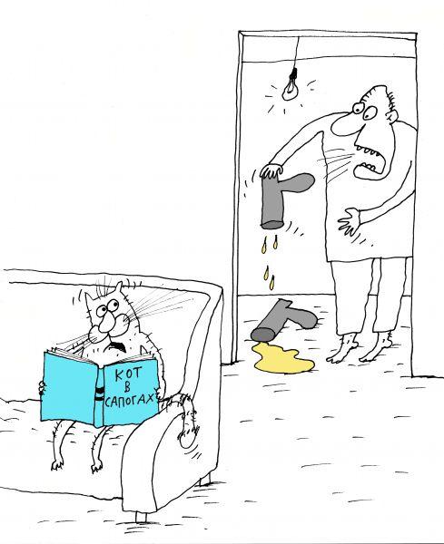Карикатура: Кот в сапогах, Вячеслав ШИЛОВ
