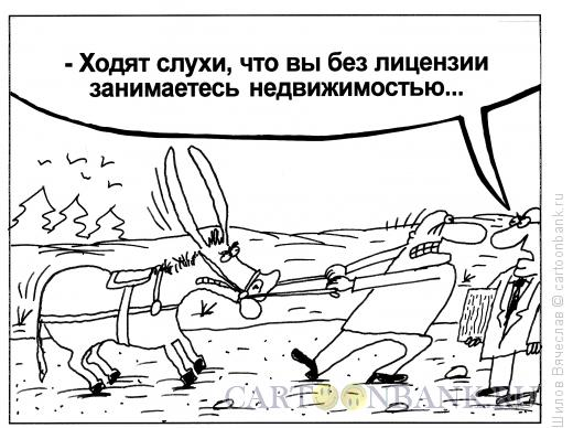 Карикатура: Недвижимость, Шилов Вячеслав