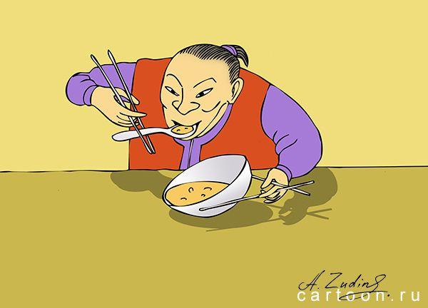 Карикатура: Две палочки, Александр Зудин