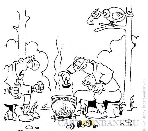 Карикатура: Гриф знает, Кийко Игорь