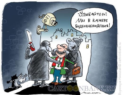 Карикатура: Камера видеонаблюдения, Воронцов Николай