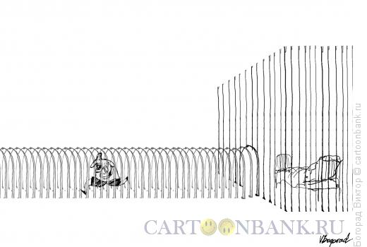 Карикатура: Утро хищника, Богорад Виктор