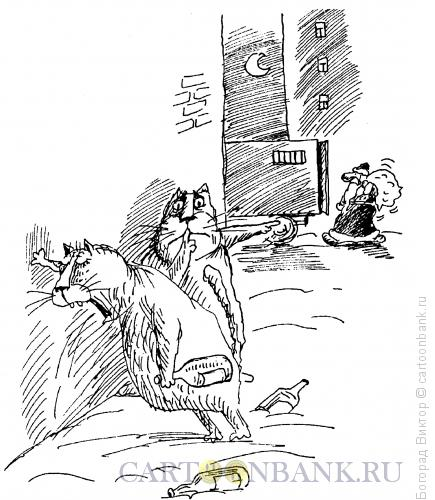Карикатура: Новогодний отлов, Богорад Виктор
